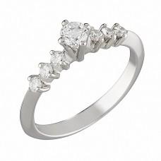 Δαχτυλίδι με Διαμάντια Λευκόχρυσος Κ18