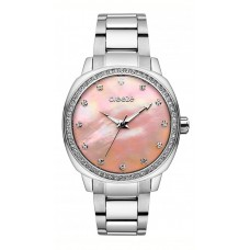 Ρολόι BREEZE Glamcy με ασημί μπρασελέ και ζιργκόν 611081.4